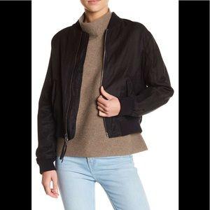 NWT Vince Crop Bomber Jacket Black, size L